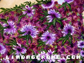 Flower Power in Purple by Linda Gerome
