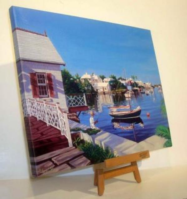 Giclee prints are gallery wrapped over stretcher bars