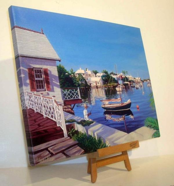 Giclee prints are gallery wrapped over wooden stretcher bars