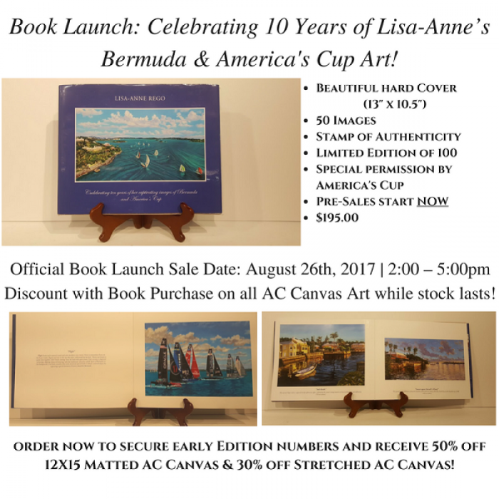 Book Launch Celebrating 10 Years of Lisa-Anne's art of Bermuda & America's Cup!