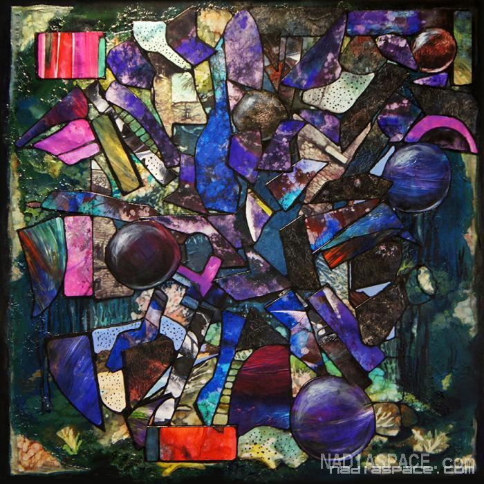 Reiki. Original Mixed Medium Collage
