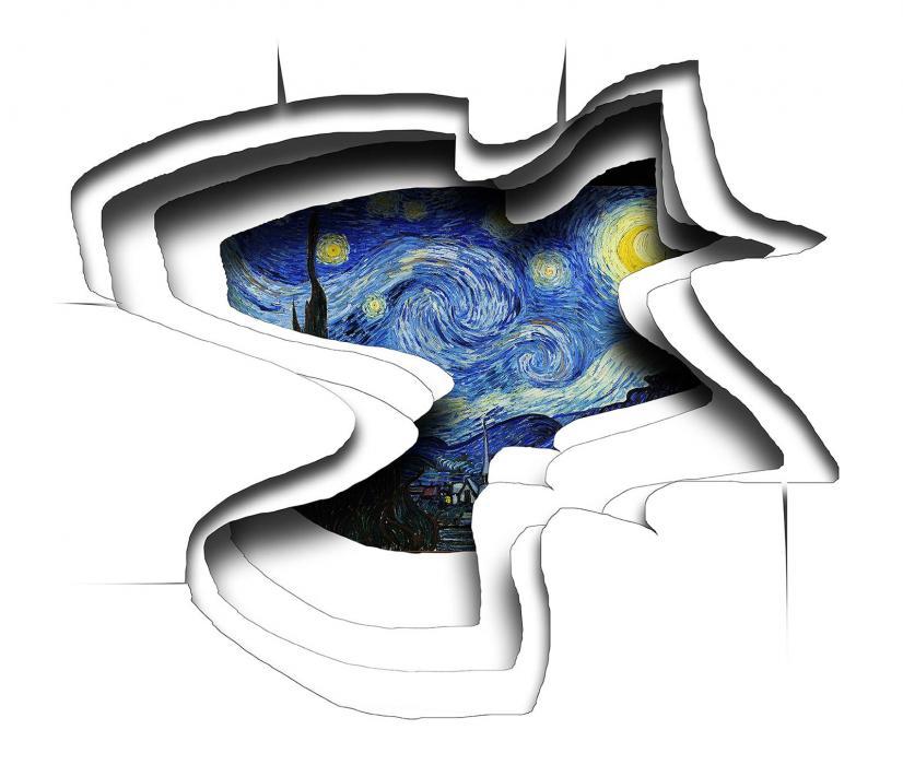 Starry night worm hole.