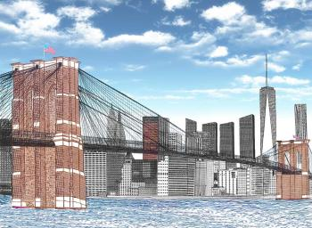 The Brooklyn Bridge - Freedom Tower by Vincent Hall