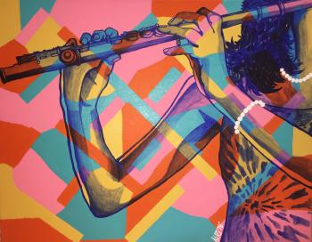 Flutist by Nichelle Rivers