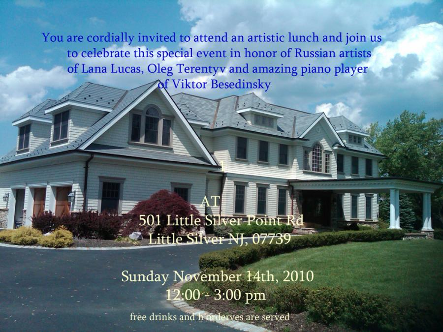 Sunday Nov 14th, 2010 Artistic lunch in Little Silver Mansion 12 - 3