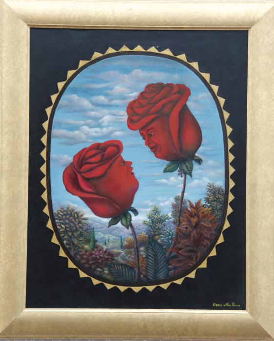 "Mr.and Mrs. Redrose (22""x28"") Oil on Canvas."