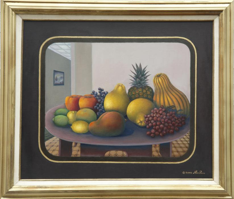 Fruits Amalgam (20&quot;x24&quot;) Oil on Canvas. <p>Healthy and delicious looking fruits. Ideal for a lovely dining room decoration.</p>