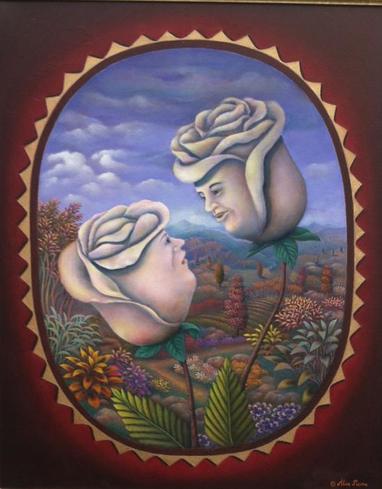 "Mr & Mrs. Whiterose 22""x28"" Oil on Canvas."