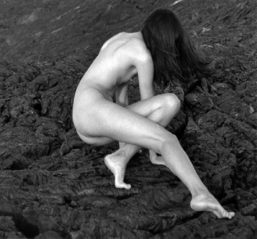 Nude on Lava. photographs are sold as limited edition on canvas or water color paper  museum quality