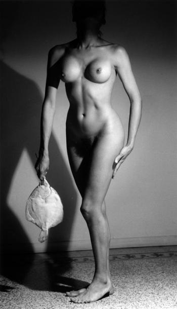 Nude with Fish by Roland Levin