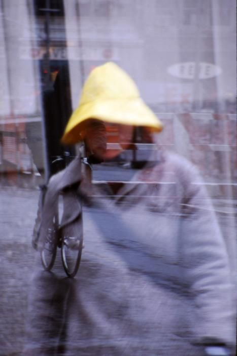 Yellow Hat, 2002. This image is a layered photograph. Available as limited edition giclee print on paper and canvas. Edition of 12. A special flash-mounting on Sentra board is available upon request. Signed and numbered.