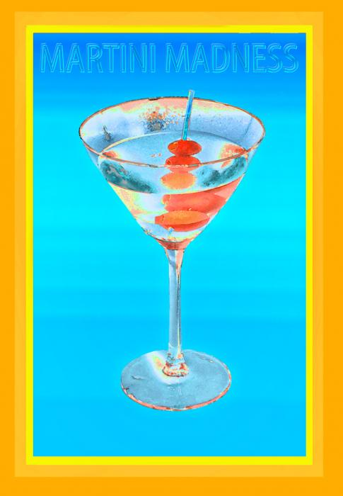 1martini Madness 119. All images are copyrighted. Original work reproduced on archival Giclee Print Limited edition of 50 .EACH SIZE A certificate is supplied .All are roled and shipped in a special cardboard container for protection shipping add $9<br /><br />all images are pieced unmated and unframed