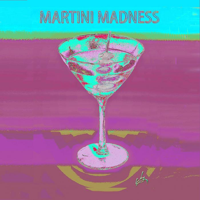 1martini Madness Bluepillow Napkin. All images are copyrighted. Original work reproduced on archival Giclee Print Limited edition of 50 .EACH SIZE A certificate is supplied .All are roled and shipped in a special cardboard container for protection shipping add $9<br /><br />all images are pieced unmated and unframed