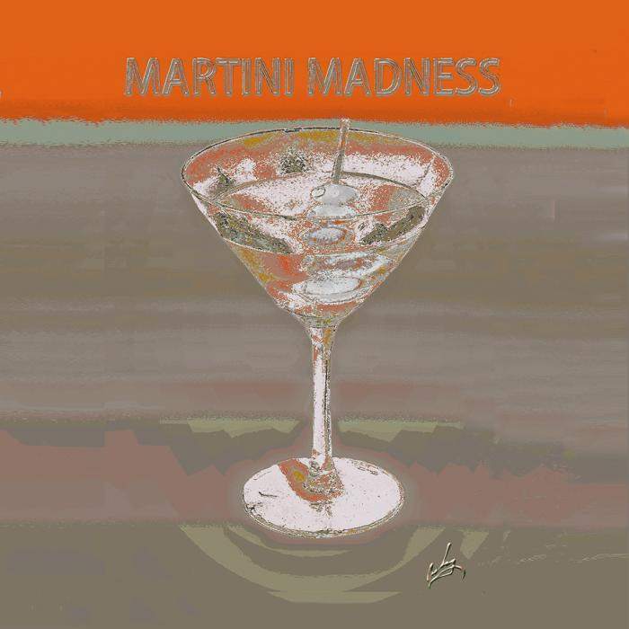 1martini Madness Orange Napkin Pillow. All images are copyrighted. Original work reproduced on archival Giclee Print Limited edition of 50 .EACH SIZE A certificate is supplied .All are roled and shipped in a special cardboard container for protection shipping add $9<br /><br />all images are pieced unmated and unframed