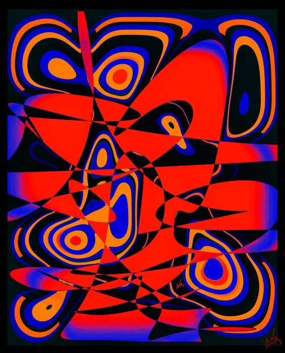 Abstract 60x48. Priced unmated and unframed scanned, hand colored digitally limited edition of 10 per size price unmated unframed. All images are Limited editions on and are Giclee Print. A certificate is supplied with each sold giclee print, that provides information about Copyright ownership, print title, size, media, number in the limited edition, edition size, release date, printer name, etc. The certificate gives you a guaranty of museum quality standards and fine art value.CALL FOR SHIPPING