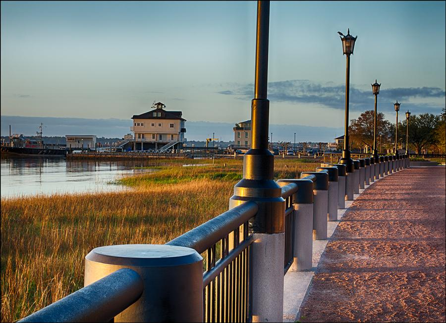 CHARLESTON BAY WALKWAY. All images are copyrighted. Original work reproduced on archival Giclee Print. A certificate is supplied .All are roled and shipped in a special cardboard container for protection shipping add $9