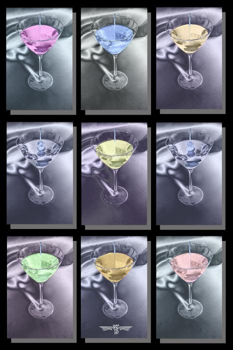 Martini Time. All images are copyrighted. Original work reproduced on archival Giclee Print Limited edition of 50 .EACH SIZE A certificate is supplied .All are roled and shipped in a special cardboard container for protection shipping add $9<br /><br />all images are pieced unmated and unframed