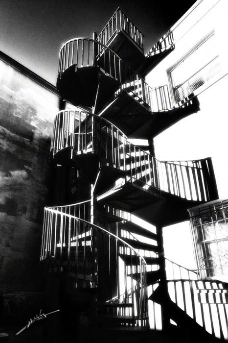 Staircase 2 B&w.