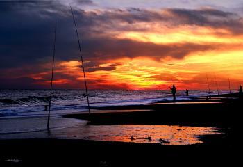 Fishing Poles Jones Beach - H. Scott Cushing