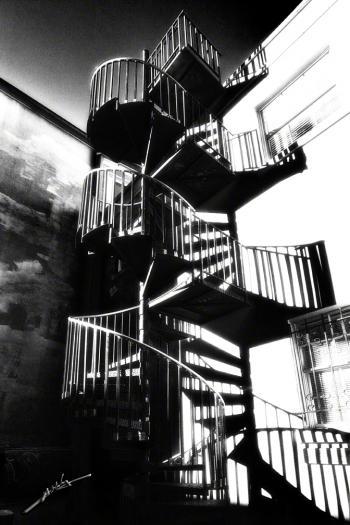 Staircase 2 B&w - H. Scott Cushing