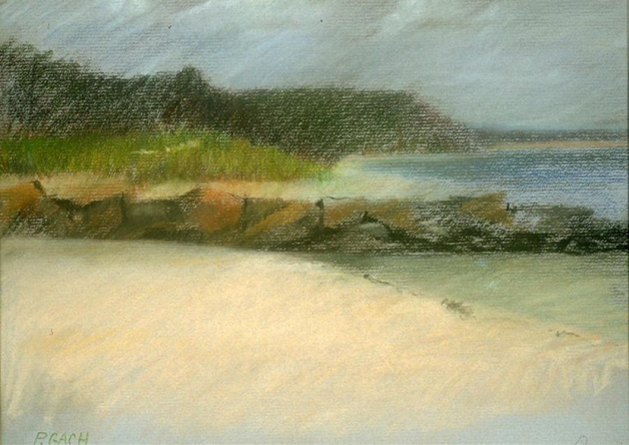 Amagansett Beach. Colored Pencil 12` x 9`