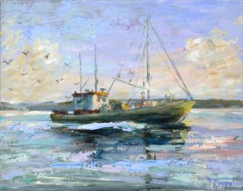 Lobster boat 2 by Terrence Joyce