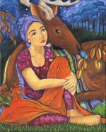 Girl with Deer