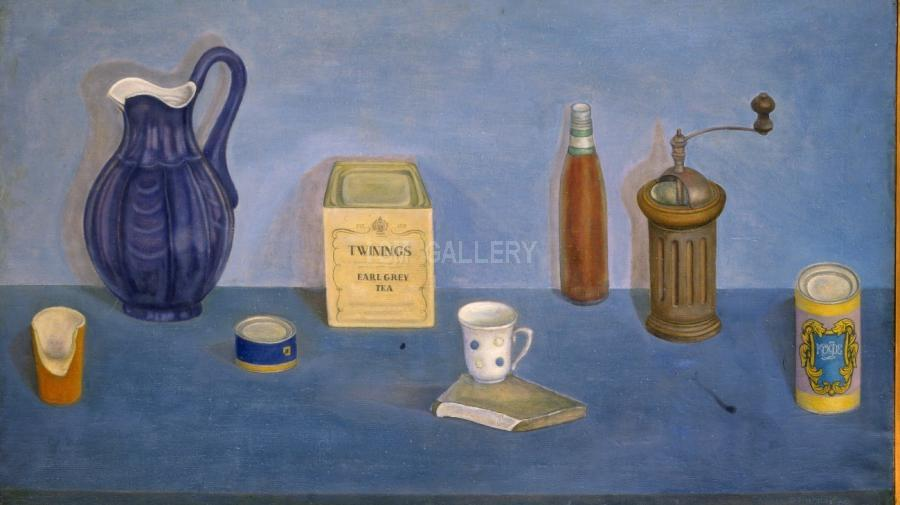 Still Life with Blue Jug, 1980. <h3><span style=`font-family: times new roman,times; font-size: small;`>Canvas, oil 69.3` x 80.7` (176 x 205 cm)</span></h3>