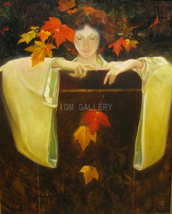 Autumm II. <h3><span style=`font-family: times new roman,times;`><span style=`font-size: small;`>Oil on canvas, 81 x 65 cm</span></span></h3>