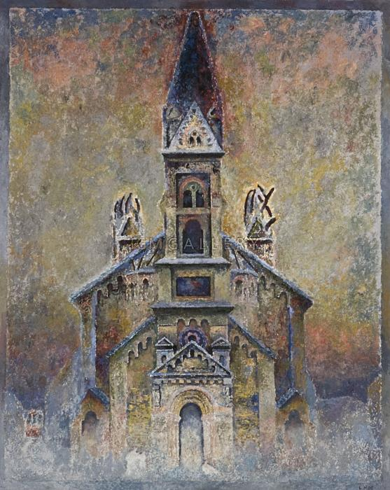 The Church, 2005. <h3><span style=`font-family: times new roman,times;`><span style=`font-size: small;`>oil on canvas, 50`x 40` (127&nbsp;x 101,6 cm)</span></span></h3>