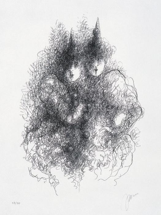 Clownesses, 2002. <h3><span style=`font-family: times new roman,times;`><span style=`font-size: small;`>Serigraph on paper, 23,6` x 17,7`</span></span></h3>