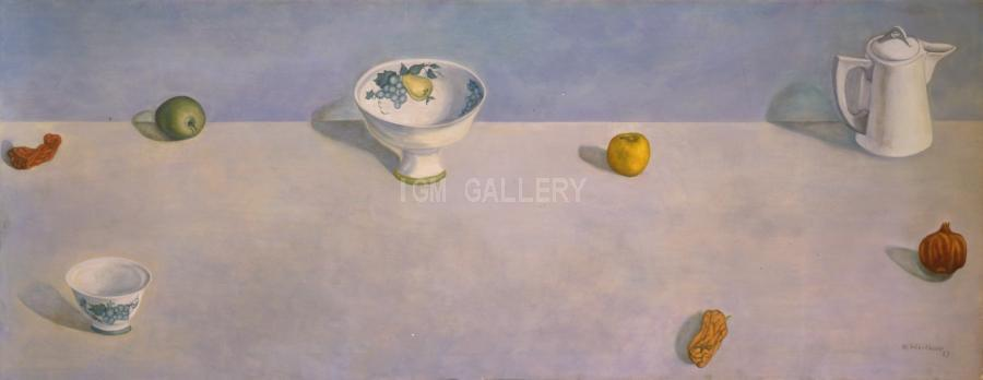 Still Life with Empty, 1980. <h3><span style=`font-family: times new roman,times; font-size: small;`>Canvas, oil 28` x 72` (71 x 183 cm)</span></h3>