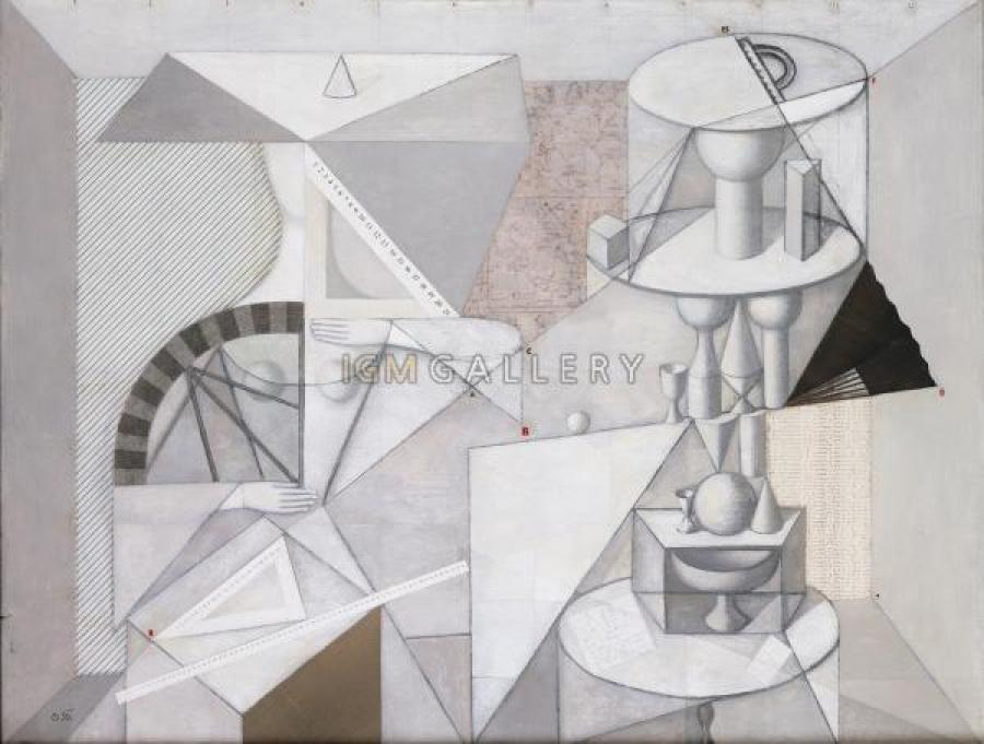 Geometry, 1997. <h3><span style=`font-family: times new roman,times;`><span style=`font-size: small;`>Canvas, oil, 39,4`x51,2`</span></span></h3>