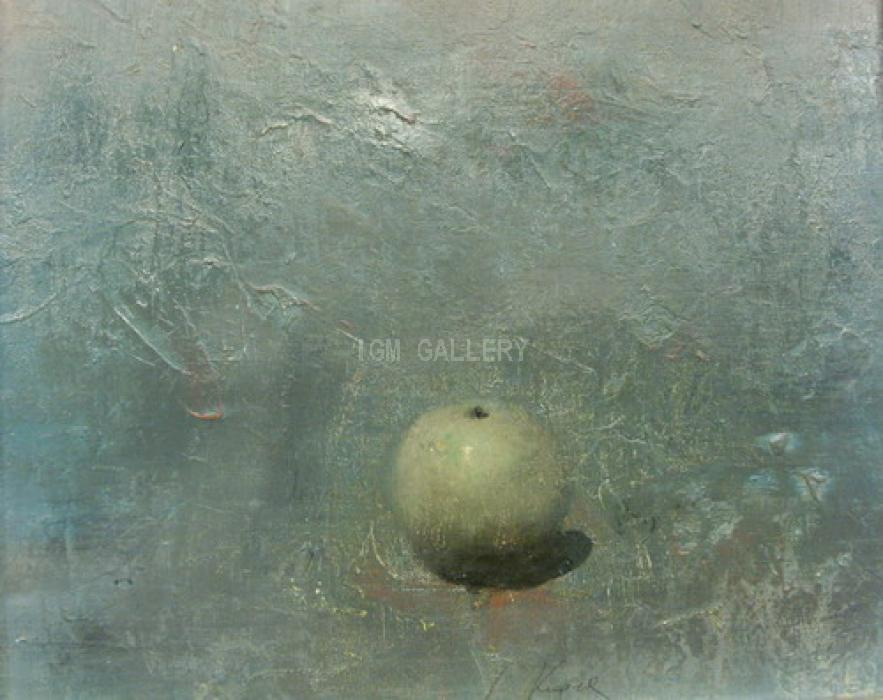 &quot;Apple&quot;, 2007. <h3><span style=`font-family: times new roman,times; font-size: small;`>Mixed media on canvas, acrylic, 15`x 18,1`, (38 х 46 cm)</span></h3>