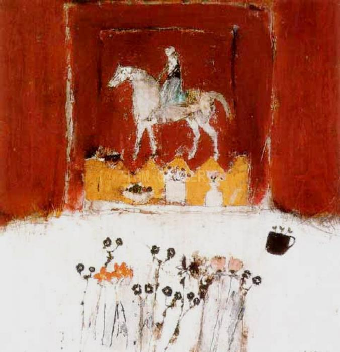 Horse And Rider. <h3><span style=`font-family: times new roman,times; font-size: small;`>Serigraph on paper 19` x 17`&nbsp;(48,2 х 43,1 cm)</span></h3>