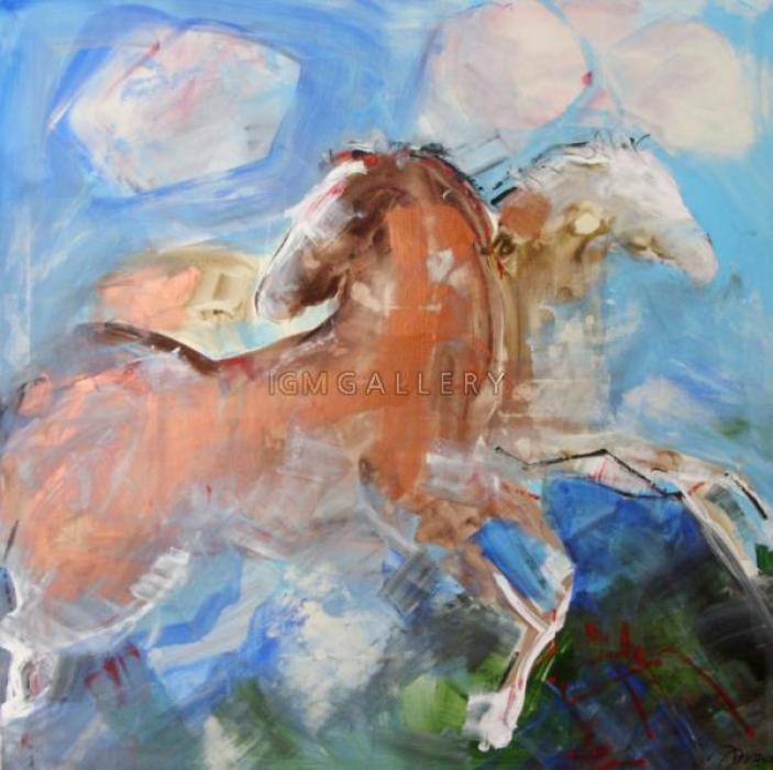Horses, 2007. <h3><span class=`field-content`><span style=`font-family: times new roman,times;`><span style=`font-size: small;`>Canvas, acrylic,oil, 39,4`x39,4`</span></span></span></h3>