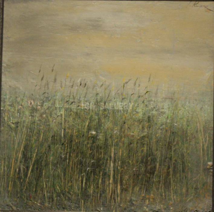 Grass, 2007. <h3><span style=`font-family: times new roman,times; font-size: medium;`>Mixed media, oil on canvas, 15,7`x15,7`&nbsp;(40x40 cm)</span></h3>