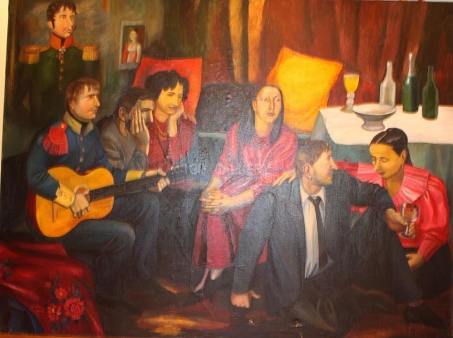 Gypsy Romance, 1989. <h3><span style=`font-family: times new roman,times; font-size: small;`>Oil on canvas, 59,1`x78.7`&nbsp;(150 x 200 cm)</span></h3>