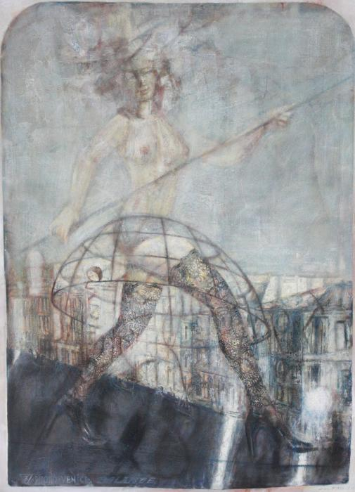 Balance, 1994. <h3><span style=`font-family: times new roman,times;`><span style=`font-size: small;`>Canvas,Oil, 147 x 107 cm (57.9`x42.1`)</span></span></h3>