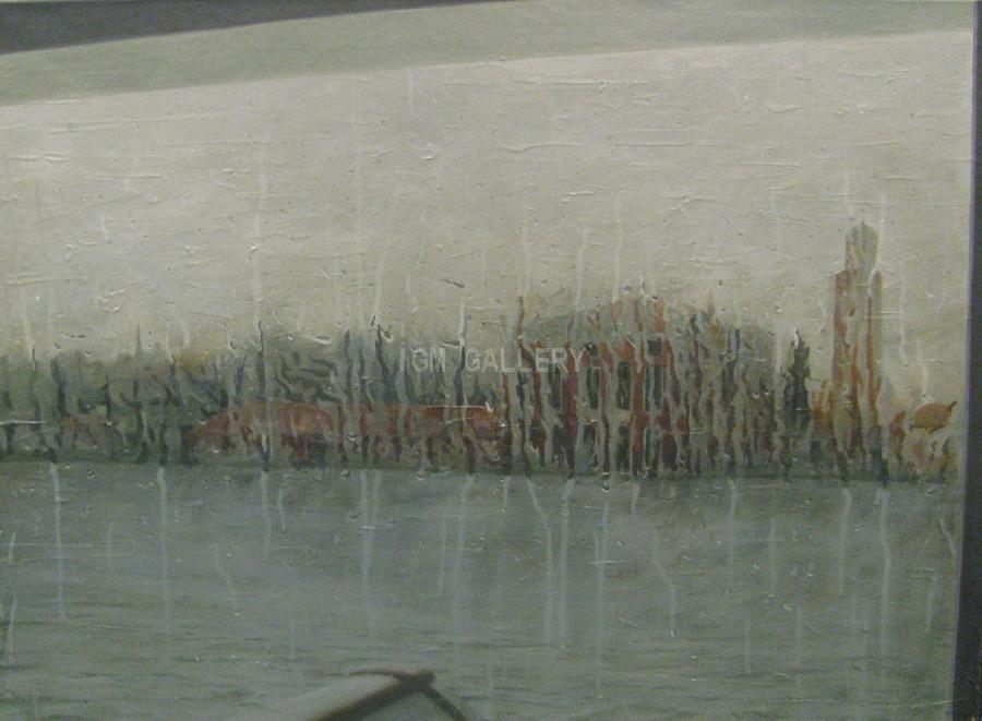 The Rain, 2010. <h3><span style=`font-family: times new roman,times;`><span style=`font-size: small;`>Oil on canvas, 80 x 110 cm</span></span></h3>