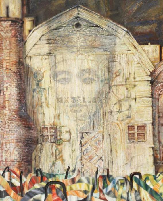 Nefertiti, 1992. <h3><span class=`field-content`><span style=`font-size: small;`><span style=`font-family: times new roman,times;`>Canvas, oil, mixed media, 140 x 113 cm (55.1``x44.5``)</span></span></span></h3>