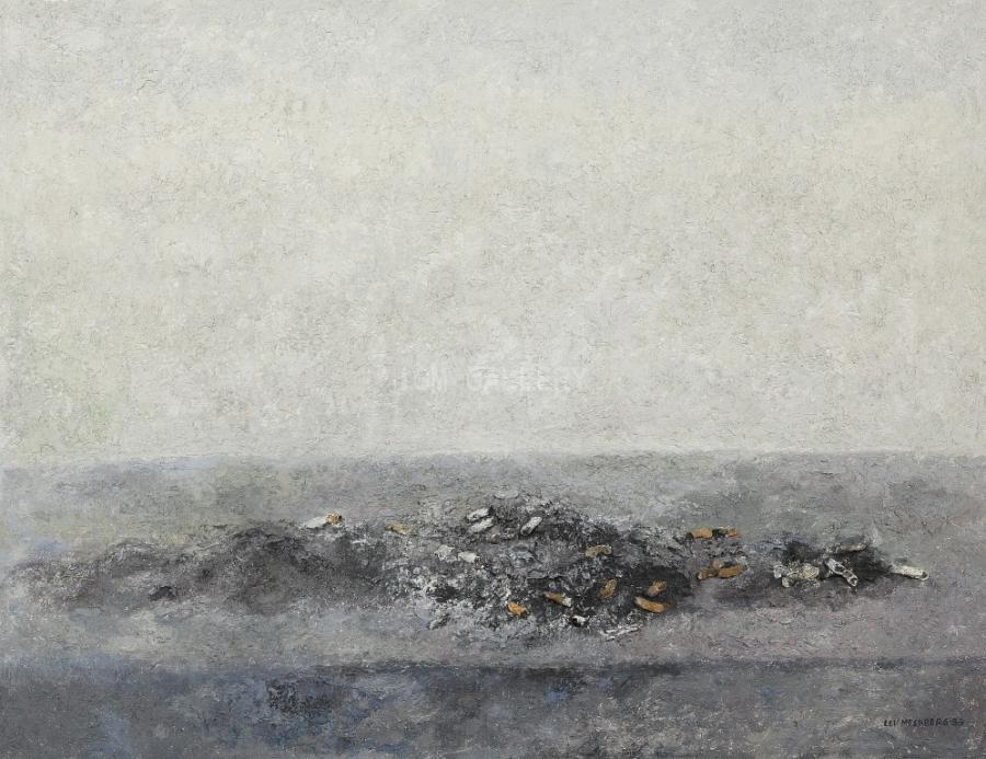 Still Life with Ashes, 1988. <h3><span style=`font-family: times new roman,times; font-size: small;`>Canvas,oil 29.9` x 39.8` (76 x 101 cm)</span></h3>