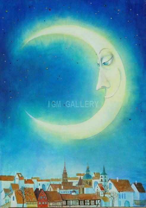 The Moon. 2007. <h3><span lang=`EN-US`><span style=`font-family: times new roman,times;`><span style=`font-size: small;`>Canvas, acrylic, 70 x 50 cm. </span></span></span></h3>