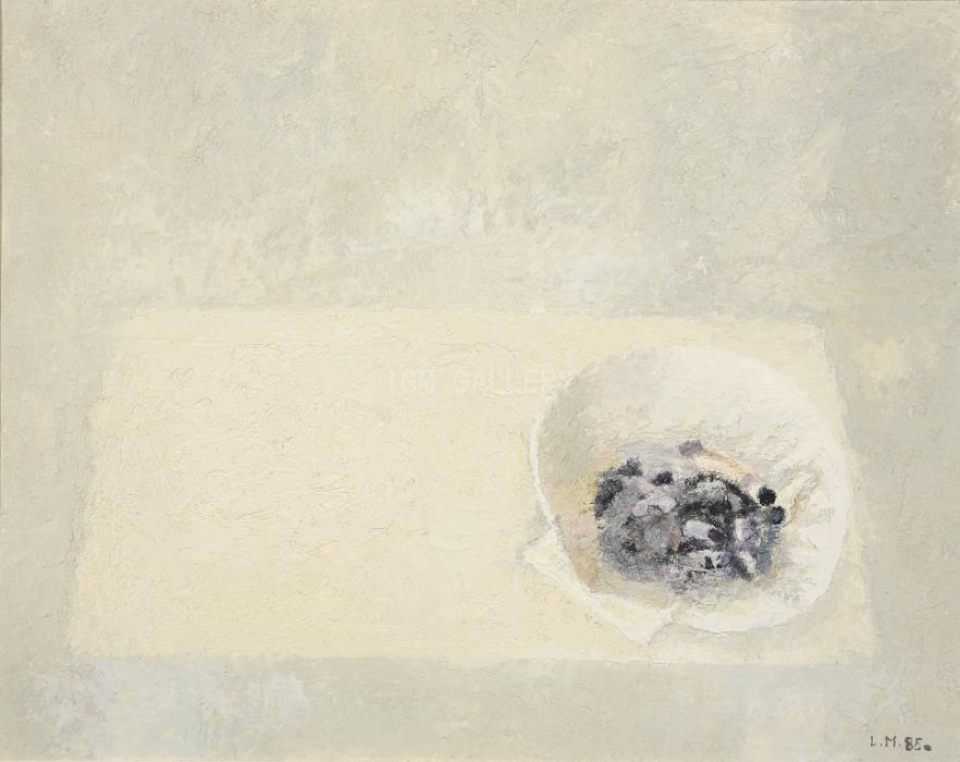 Still Life with Cigarette Butts, 1985. <h3><span style=`font-family: times new roman,times; font-size: small;`>Canvas on wood,oil, 15.7` x 19.7`&nbsp;(50x40 cm)</span></h3>