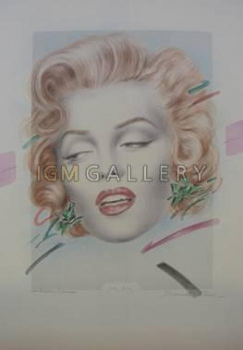 Marilyn, 2000. <h3><span class=`field-content`><span style=`font-family: times new roman,times;`><span style=`font-size: small;`>Paper,watercolor, pencil, mixed media, 19,7`x13,8`</span></span></span></h3>