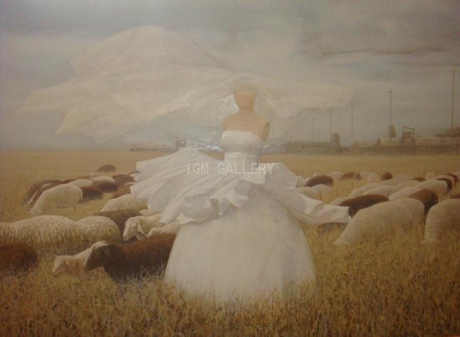 The Beautiful Shepherdess, 2007.. <h3 class=`MsoNormal` style=`margin: 0in 0in 0pt; line-height: normal;`><span style=`font-size: 14pt;` lang=`RU`>&nbsp;</span><span style=`font-family: times new roman,times;`><span style=`font-size: small;`><span style=`mso-ansi-language: EN-US;`>Oil</span> <span style=`mso-ansi-language: EN-US;`>on</span> <span style=`mso-ansi-language: EN-US;`>canvas,</span><span lang=`RU`>&nbsp;59,1` х&nbsp;40,2`(102x150 cm)</span></span></span></h3>