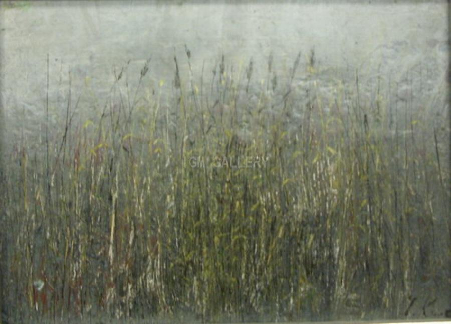 &quot;Grass&quot;, 2007. <h3><span style=`font-family: times new roman,times; font-size: small;`>Mixed media on canvas, acrylic, 6,7` x 9,4`&nbsp;(17 х 24 cm)</span></h3>