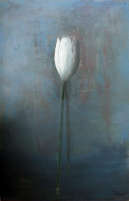 Tulip IX, 2009. <h3><span style=`font-family: times new roman,times; font-size: small;`>Oil on canvas, 59,1` x 39,4` (150 x&nbsp;100 cm)</span></h3>