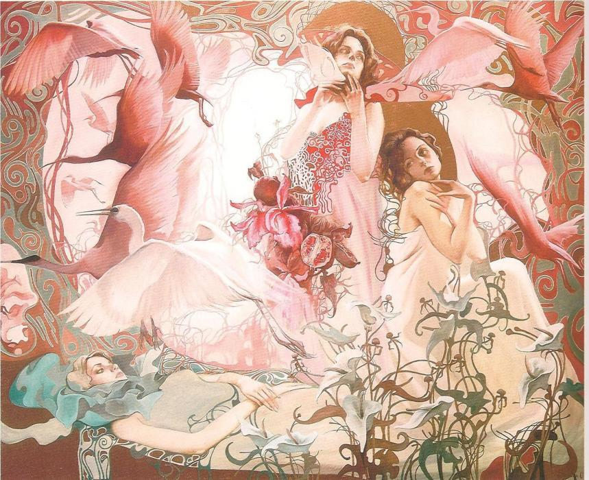 The Rose Evening, 1994. <h3><span style=`font-family: times new roman,times;`><span style=`font-size: small;`>Serigraph on paper</span></span></h3>
