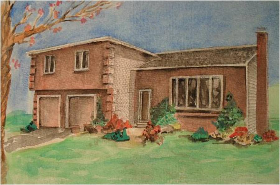 House In Watercolor.